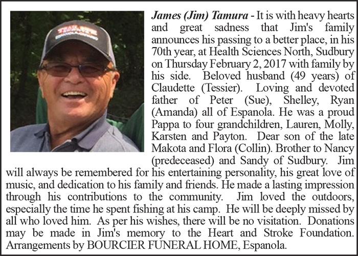 Obituary James Tamura Colour February 7-2017
